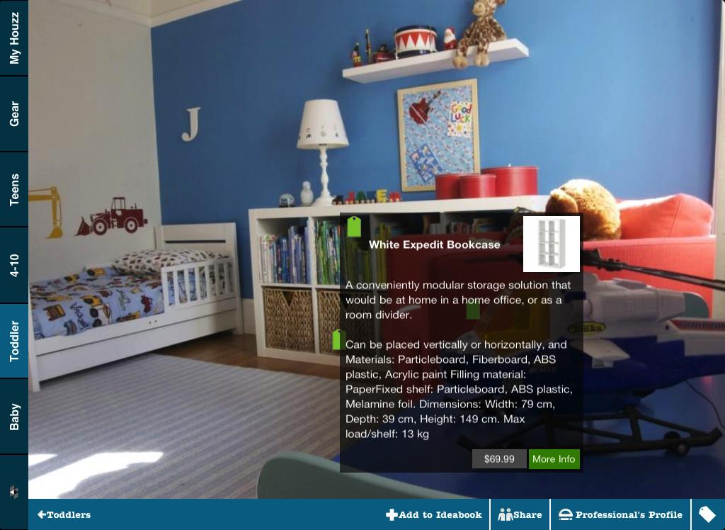 Houzz kids rooms ipad iphone app now in itunes store for Houzz kids room
